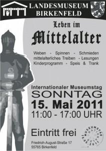 Plakat Museumstag 2011 Thema: Leben im Mittelalter