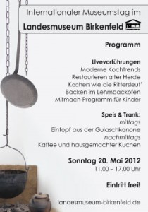 Programmhinweis Internationaler Museumstag im Landesmuseum Birkenfeld 2012