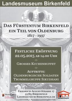 Plakat zur feierlichen Eröffnun