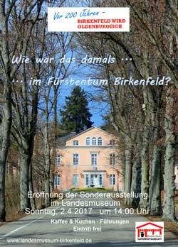 Bild mit dem Schloss Birkenfeld und dem Text: Wie war das damals.. im Fürstentum Birkenfeld?