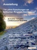 Plakat: Sonderausstellung 14 Jahre Forschung am keltischen Ringwall Otzenhausen (2012)