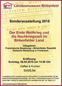 Plakat zur Sonderausstellung 2018