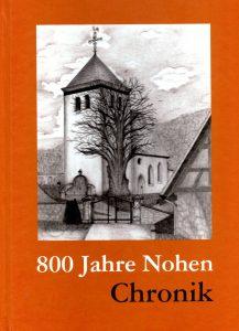 Einband - 800 Jahre Nohen Chronik mit Zeichnung der Kirche